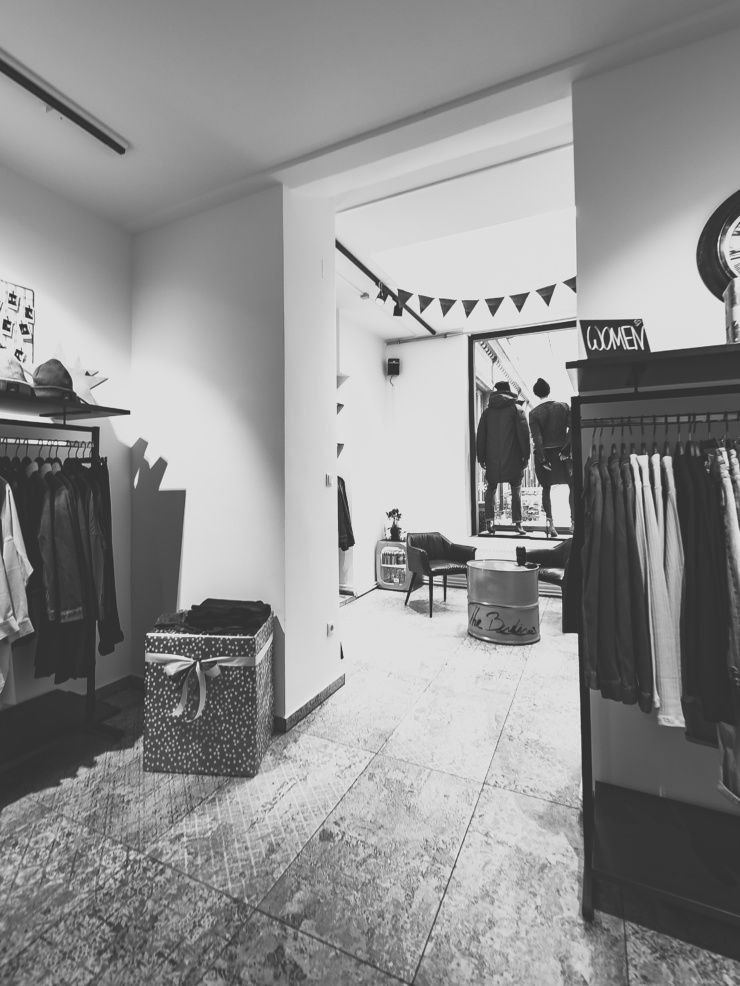 Kassabereich von The Budims | Your Denimshop | Wien Jeans Spezialist