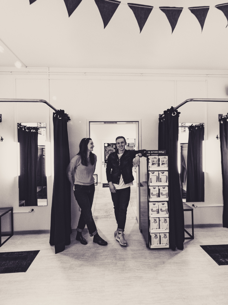 Umkleidebereich von The Budims | Your Denimshop | Wien Jeans Spezialist